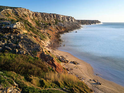 Algarve Wall Art - Photograph - Beach And Cliffs At Praia Do Telheiro by Martin Zwick
