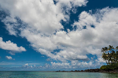 Photograph - Beach And Clouds by Harry Spitz