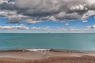 Photograph - Beach And Ships. by Juan Carlos Ferro Duque
