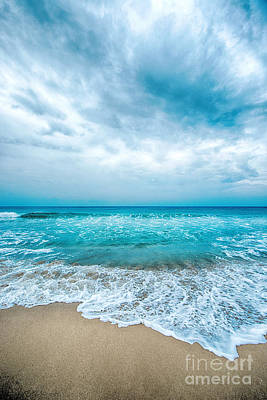 Photograph - Beach And Waves by Yew Kwang