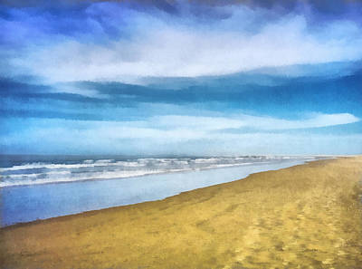 Digital Art - Beach - Art By Ann Powell by Ann Powell