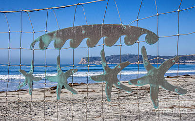 Photograph - Beach Art by Peggy Hughes
