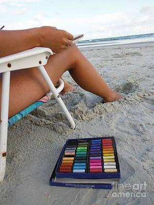Artist Working Photograph - Beach Artist by Paddy Shaffer