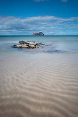 Beach At Bass Rock Art Print by Keith Thorburn LRPS