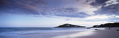 Burgh Photograph - Beach At Dusk, Burgh Island by Panoramic Images