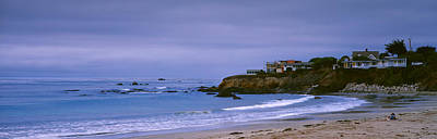 Luis Photograph - Beach At Dusk, Cayucos State Beach by Panoramic Images