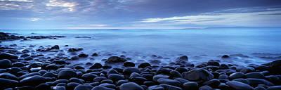 Beach At Dusk, Westward Ho, North Art Print