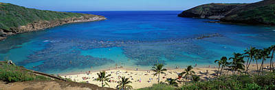 Sunbathers Photograph - Beach At Hanauma Bay Oahu Hawaii Usa by Panoramic Images