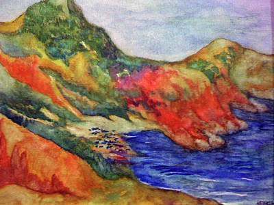 Painting - Beach At Moraira by Kandy Cross