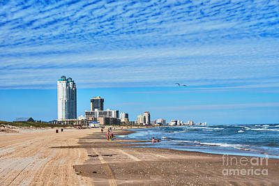 The South Photograph - Beach At Padre Island  by Tod and Cynthia Grubbs