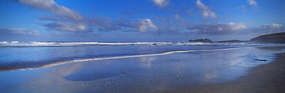 Beach At Sunrise, Gwithian Beach Print by Panoramic Images