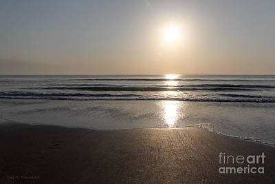 Art Print featuring the photograph Beach At Sunrise by Todd Blanchard