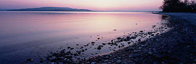 Lake Constance Photograph - Beach At Sunset, Lake Constance, Germany by Panoramic Images