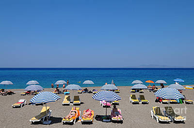 Photograph - Beach At The City Of Rhodes by George Atsametakis