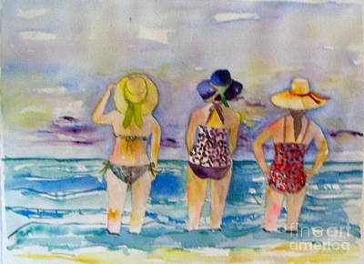 Topsail Island Painting - Beach Babes by Anne McMath