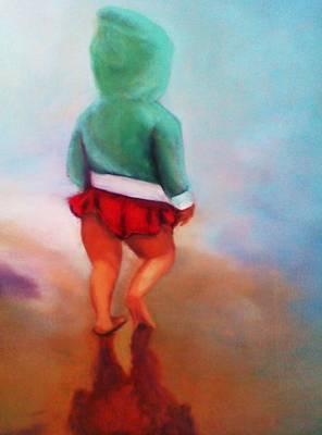 Beach Baby Bella Art Print by Barbie Baughman