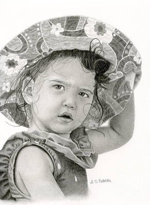 Swimmers Drawing - Beach Baby by Sarah Batalka