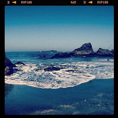 #beach #beautiful #water #waves #nature Art Print