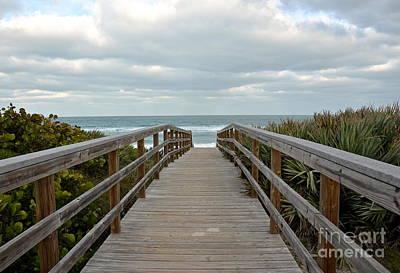 Photograph - Beach Boardwalk by Carol  Bradley