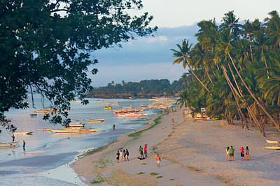 Beach, Bohol Island, Philippines Art Print