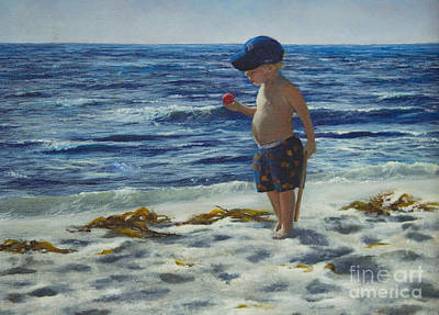 Painting - Beach Boy by Jeanette French