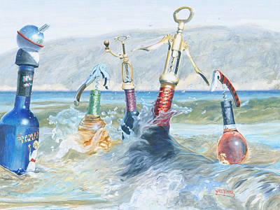 Cork Screw Painting - Beach Boys by Will Enns