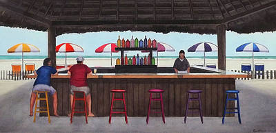 Painting - Beach Breakfast Bar by Cory Clifford