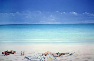 Beach Broker Art Print by Lincoln Seligman