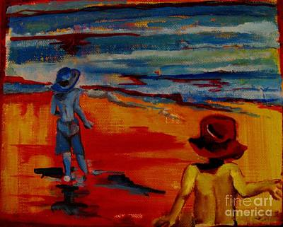 Painting - Beach Brothers by Grace Liberator