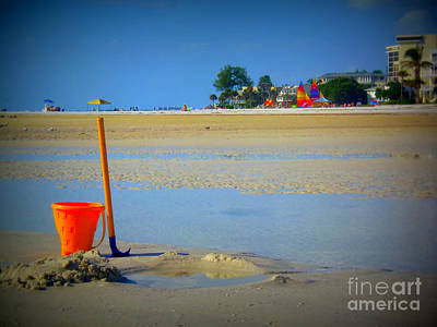 Photograph - Beach Bucket At Seista Key by Lou Ann Bagnall