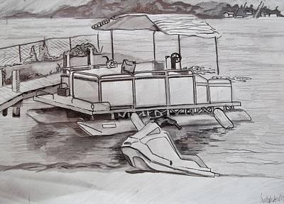 Beach Drawing - Beach Bum by Carly Seyferth