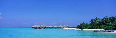 Sunbathers Photograph - Beach Cabanas, Baros, Maldives by Panoramic Images