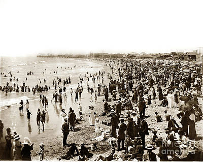 Photograph - Santa Monica Beach And Pier  by California Views Mr Pat Hathaway Archives