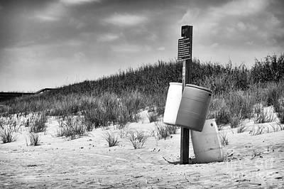 Photograph - Beach Cans Mono by John Rizzuto