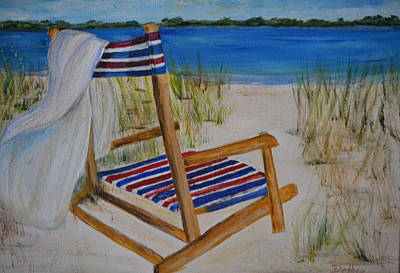 Painting - Beach Chair by Debbie Baker