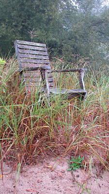 Photograph - Beach Chair by Denise   Hoff
