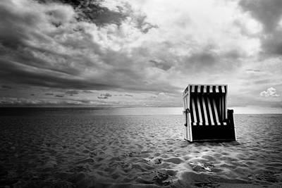 Photograph - Beach Chair by Marc Huebner