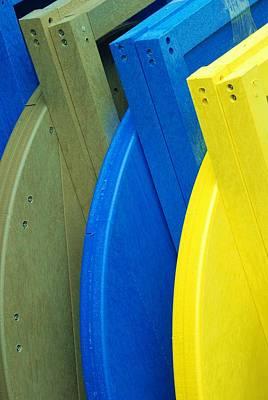 Photograph - Beach Chair Pallette by Allen Beatty