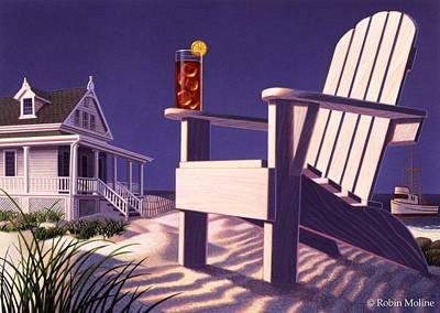 Cape Cod Painting - Beach Chair by Robin Moline