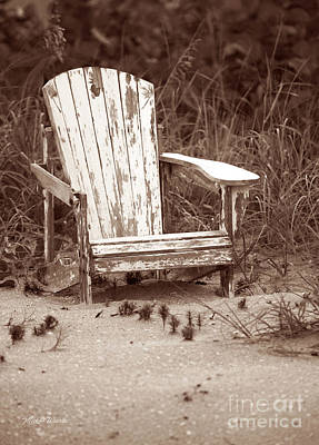 Beach Chair With Pineapple Print by Michelle Wiarda