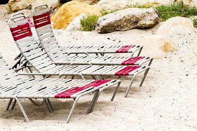 Beach Chairs Art Print by Bernard  Barcos