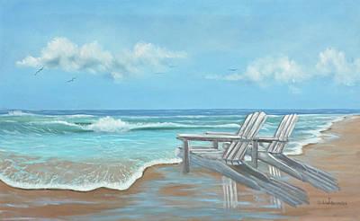 Beach Chair Painting - Beach Chairs II by Julie Peterson