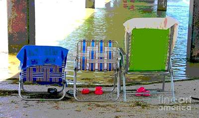 Art Print featuring the photograph Beach Chairs by Jeanne Forsythe