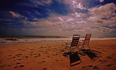 Art Print featuring the photograph Beach Chairs by John Harding