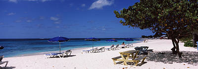 Beach Chairs On The Beach, Shoal Bay Art Print by Panoramic Images