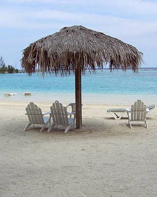Photograph - Beach Chairs Roatan by David Nichols
