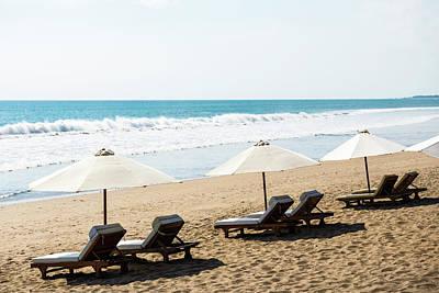 Lounge Chair Photograph - Beach Chairs, Seminyak Beach, Seminyak by John Harper