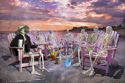 Beach Committee Art Print by Betsy Knapp
