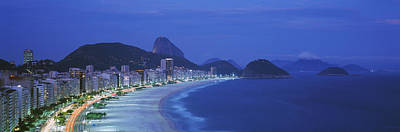 Traffic Light Photograph - Beach, Copacabana, Rio De Janeiro by Panoramic Images