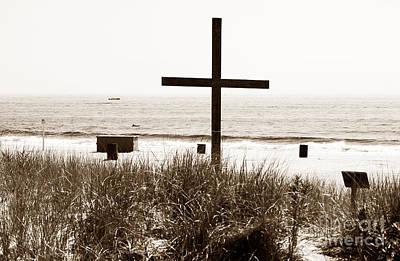 Photograph - Beach Cross by John Rizzuto